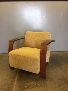 Arm Chair, Woven Cotton, Tan, Brown, Pink, Wood Frame, Warehouse, Arm Chair, Chairs