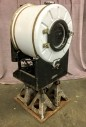 "Antique Washing Machine , Exposed Mechanisims With Fabricated Jack Stand Base, Warehouse, White, Black, Residential Appliance, Appliances, Rust, Normal Wear And Tear, 26""W, 24""D, 49""H, Bendrix Home Laundry, Steel, Not Applicable"